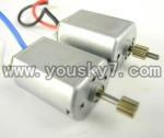L988-helicopter-26 Main motor with long shaft and gear & Main motor with short shaft and gear