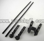 L988-helicopter-31 Support pipe(2pcs) & Head fixture for the support pipe(2pcs) & Fixture for the horizontal wing