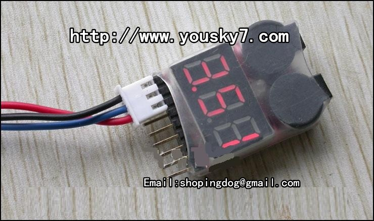 Lower voltage alarm for the MJX F45 F39 T40 li-battery to ensure timely return