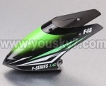 F648-parts-01 Head cover(Black&Green)