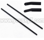 MJX-F649-parts-16 Support pipe(2pcs) & Fixture for the support pipe(2pcs)