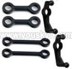 MJX-F49-parts-21 Short connect buckle(2pcs) & Long connect buckle(2pcs) & Round-shape buckle(2pcs)