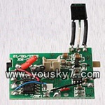 MJX-T42C-helicopter-parts-18 Receiver board,PCB board