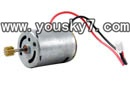 MJX-T43-helicopter-parts-08 Main Motor A With Long Shaft