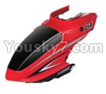 MJX-T54-helicopter-parts-02 Head cover(Red)