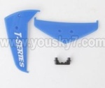 MJX-T57-parts-29 Horizontal wing & Verticall wing & Fixture-Blue