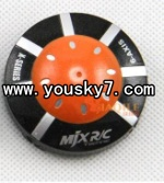 MJX-X100-UFO-parts-01 Head cover(Orange)-I-heli X100 shuttle UFO