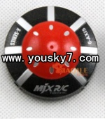 MJX-X100-UFO-parts-02 Head cover(Red)-I-heli X100 shuttle UFO