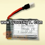MJX-X100-UFO-parts-04 X100 battery,3.7v 300mah 15c,I-heli battery