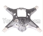 MJX X300 X300C parts-03 Bottom shell cover,Bottom canopy-Gray