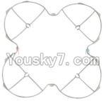 MJX X300 X300C parts-04 Outer protect frame-White