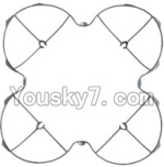 MJX X300 X300C parts-05 Outer protect frame-Gray