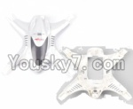 MJX X300 X300C parts-06 Upper and bottom shell cover,Upper and bottom canopy-White