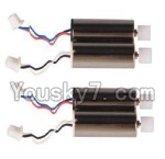 MJX X300 X300C parts-11 rotating Motor with red and Blue wire(2pcs) & Reversing-rotating Motor with Black and white wire(2pcs)
