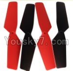 MJX X300 X300C parts-16 Main rotor blades,Propellers(4pcs)-2pcs Red And 2pcs Black