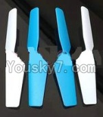 MJX X300 X300C parts-17 Main rotor blades,Propellers(4pcs)-2pcs Blue And 2pcs White