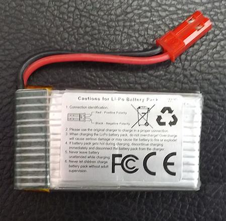 MJX X300 X300C parts-31 Official 3.7V 750mah battery(1pcs)