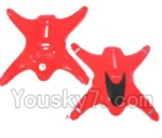 MJX X402 X402H Spare Parts-03 Upper and Bottom shell cover-Red