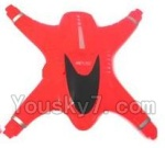 MJX X402 X402H Spare Parts-05 Upper shell cover-Red