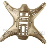 MJX X402 X402H Spare Parts-07 Bottom shell cover-Golden
