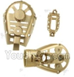 MJX X402 X402H Spare Parts-39 Whole motor unit parts(Include the Motor seat,Motor cover,Small Motor seat cover)-Each 1pcs-Golden