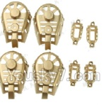 MJX X402 X402H Spare Parts-41 Motor cover,Small Motor seat cover)-Each 4pcs-Golden