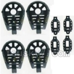 MJX X402 X402H Spare Parts-45 Motor cover,Small Motor seat cover)-Each 4pcs-Black