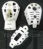 MJX X402 X402H Spare Parts-47 Whole motor unit parts(Include the Motor seat,Motor cover,Small Motor seat cover)-Each 1pcs-White