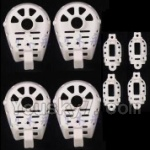 MJX X402 X402H Spare Parts-48 Motor cover,Small Motor seat cover)-Each 4pcs-White