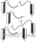 MJX X600 parts-21 Reversing-rotating Motor with Black and white wire(3pcs) & rotating Motor with red and Blue wire(3pcs)