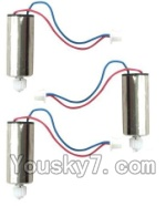MJX X600 parts-23 rotating Motor with red and Blue wire(3pcs)