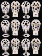 MJX X600 parts-31 Whole motor unit parts(Include the Motor seat,Motor cover,Motor seat cover)-6pcs-White