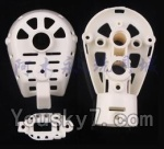 MJX X600 parts-32 Whole motor unit parts(Include the Motor seat,Motor cover,Motor seat cover)-1pcs-White