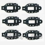 MJX X600 parts-40 Whole motor unit parts(Include the Motor seat,Motor cover,Motor seat cover)-6pcs-Black