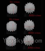 MJX X600 parts-59 Small gear for the main motor,10T(Total 6pcs)