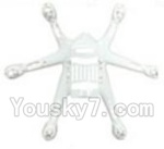 MJX X800 Parts-08 Bottom shell cover,Bottom Canopy-White