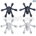MJX X900 Parts-01 Upper shell cover,Upper canopy & Bottom shell cover,Bottom canopy-(1pcs Black and 1pcs White)