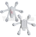 MJX X900 Parts-06 Upper shell cover,Upper canopy & Bottom shell cover,Bottom canopy-White