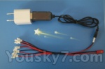 Mingji-301-helicopter-parts-58 Conversion socket plug & USB & 1-to-5 Cable ((Not include the 5 battery)