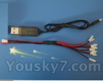 FODA F417 F-417 helicopter parts 59 USB & 1-to-5 Cable ((Not include the 5 battery))
