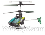 Mingji-301-helicopter-parts-63 BNF-Blue & Black
