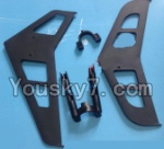MingJi 812 Spare Parts-25 Horizontal and verticall wing with fixtures