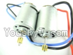 MingJi 812 Spare Parts-36 Main motor with long shaft and gear & short shaft and gear(2pcs)