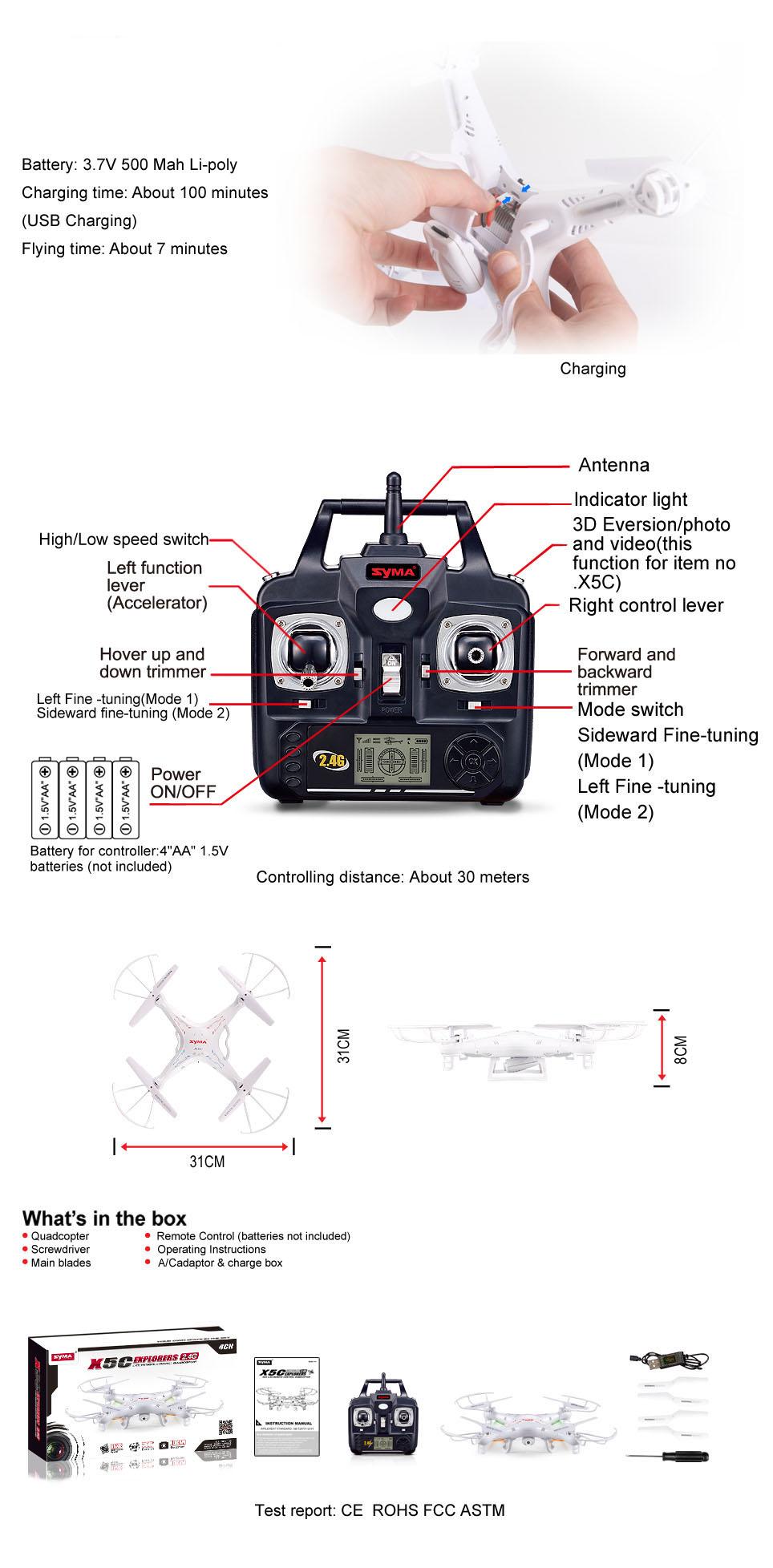 Syma X5c Quadrocopter Syma X5c Rc Helicopter Symarc X5c
