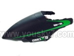 6032-parts-02 Head cover(Green)