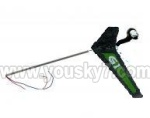 6032-parts-17 Tail unit(Long tail pipe & Verticall wing & Tail motor cap & Tail motor)-Green