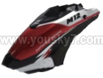Skytech-M11-Parts-03 Head cover(Black &Red & White)