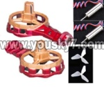 Skytech-M11-Parts-12 side wing pack(2pcs-Include the 2pcs Side motor and 2pc side blades)-Red