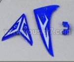 M2-parts-17 Tail decoration(Blue)