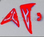 M2-parts-18 Tail decoration(Red)